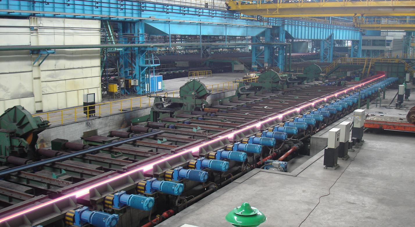 包钢轨梁1#百米长尺高速钢轨生产线