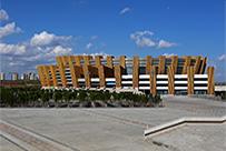 上海bob娱乐直播承建的鄂尔多斯体育馆