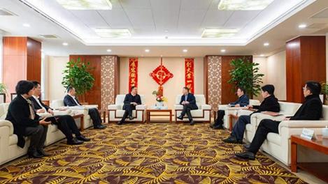 高武久一行拜访上海机场(集团)董事长秦云