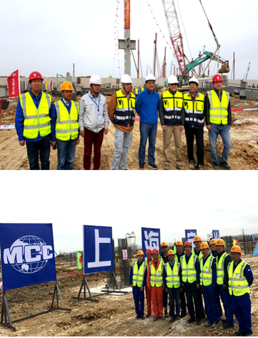 合肥蓝科玻璃基板设施建设项目钢结构工程顺利首吊